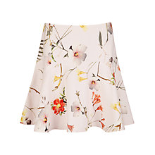 Buy Ted Baker Botanical Bloom Skirt, Pale Pink Online at johnlewis.com
