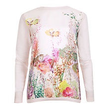 Buy Ted Baker Wispy Meadow Asymmetric Jumper, Light Pink Online at johnlewis.com