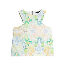 Buy Mango Tropical Ponte Top, Medium Green Online at johnlewis.com