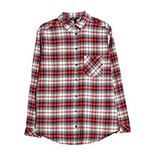 Buy Mango Chest Pocket Check Shirt, Bright Red Online at johnlewis.com