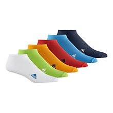 Buy Adidas Liner Socks, Pack of 6 Online at johnlewis.com