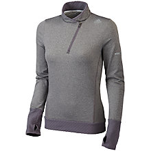 Buy Adidas Sequencials Long Sleeve Half-Zip Running Top, Grey Online at johnlewis.com