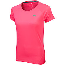 Buy Adidas Sequencials Short Sleeve Running T-Shirt, Pink Online at johnlewis.com