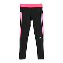Buy Adidas Response Running Tights, Black/Pink Online at johnlewis.com