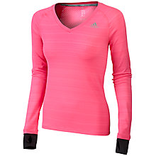 Buy Adidas Supernova Long Sleeve Running T-Shirt, Pink Online at johnlewis.com