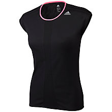 Buy Adidas Response Cap-Sleeve T-Shirt, Black/Pink Online at johnlewis.com