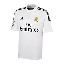 Buy Adidas Real Madrid Home Football Shirt, White/Black Online at johnlewis.com