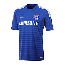 Buy Adidas Chelsea Home Football T-Shirt, Blue Online at johnlewis.com
