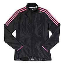 Buy Adidas Response Wind Jacket, Black/Pink Online at johnlewis.com