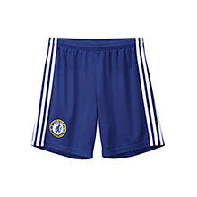 Buy Adidas Chelsea FC Home Youth Shorts, Blue Online at johnlewis.com