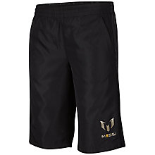 Buy Adidas Messi Bermuda Boys' Shorts, Black Online at johnlewis.com