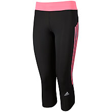 Buy Adidas Response 3/4 Running Tights, Black/Pink Online at johnlewis.com