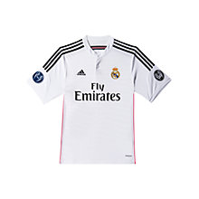 Buy Adidas Junior Real Madrid Home Football Shirt, White/Black Online at johnlewis.com