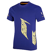 Buy Adidas Boys' Messi Logo T-Shirt, Purple/Yellow Online at johnlewis.com