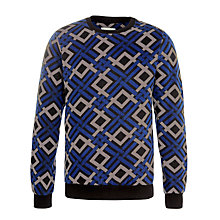 Buy Eleven Paris Kexta Geometric Print Sweatshirt, Blue/Grey Online at johnlewis.com
