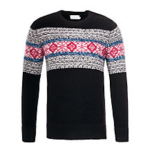 Buy Eleven Paris Koroc Fair Isle Knit Jumper, Black Online at johnlewis.com
