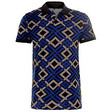 Buy Eleven Paris Klout Celtic Print Polo Shirt, Blue/Grey Online at johnlewis.com