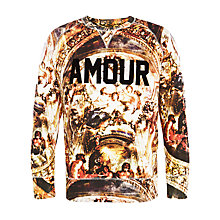 Buy Eleven Paris Fix Amour Sweatshirt, Yellow Multi Online at johnlewis.com