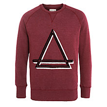 Buy Eleven Paris Logo Sweatshirt, Melange Aubergine Online at johnlewis.com
