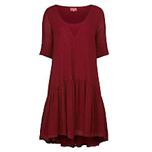Buy Ghost Camila Dress, Oxblood Online at johnlewis.com