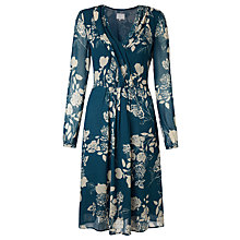 Buy Ghost Marston Dress, Bella Rose Silhouette Online at johnlewis.com