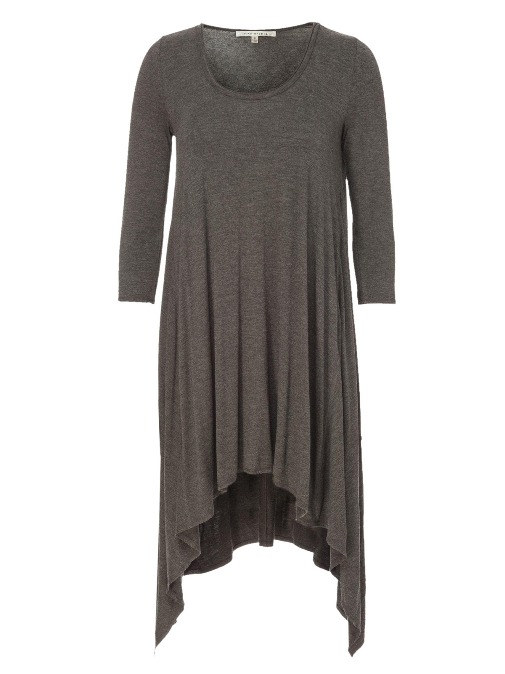 max studio asymmetric hem tunic heather charcoal, max, studio, asymmetric, hem, tunic, heather, charcoal, max studio, clearance, womenswear offers, womens dresses offers, women, womens dresses, special offers, 1621154
