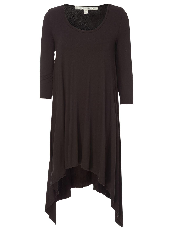 max studio asymmetric hem tunic dress black, max, studio, asymmetric, hem, tunic, dress, black, max studio, clearance, womenswear offers, womens dresses offers, women, womens dresses, 1709161
