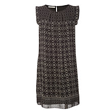 Buy Max Studio Printed Sleeveless Dress, Black/Beige Clover Stencil Online at johnlewis.com