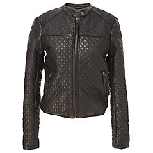 Buy Max Studio Leatherette Bomber Jacket, Black Online at johnlewis.com
