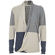 Buy Max Studio Cross Front Block Stripe Knit Online at johnlewis.com