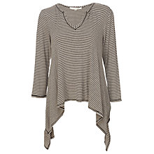 Buy Max Studio Stripe Tunic Top, Black/Heather Bone Online at johnlewis.com