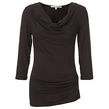 Buy Max Studio Twist Slide Jersey Top, Heather Charcoal Online at johnlewis.com