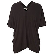 Buy Max Studio Twist Jersey Top, Black Online at johnlewis.com