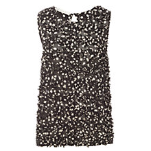 Buy Max Studio Sleeveless Cut Work Top, Black/Beige Online at johnlewis.com