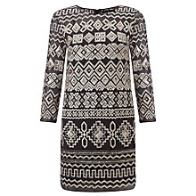 Buy Needle & Thread Embroidered Lace Stitch Dress, Vintage Black Online at johnlewis.com