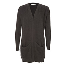 Buy Max Studio Rib Long Cardigan, Heather Charcoal Online at johnlewis.com