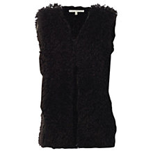 Buy Max Studio Faux Fur Gilet, Black Online at johnlewis.com