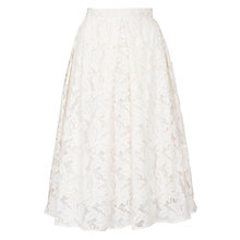 Buy Ghost Makayla Lace Skirt, Cream Online at johnlewis.com