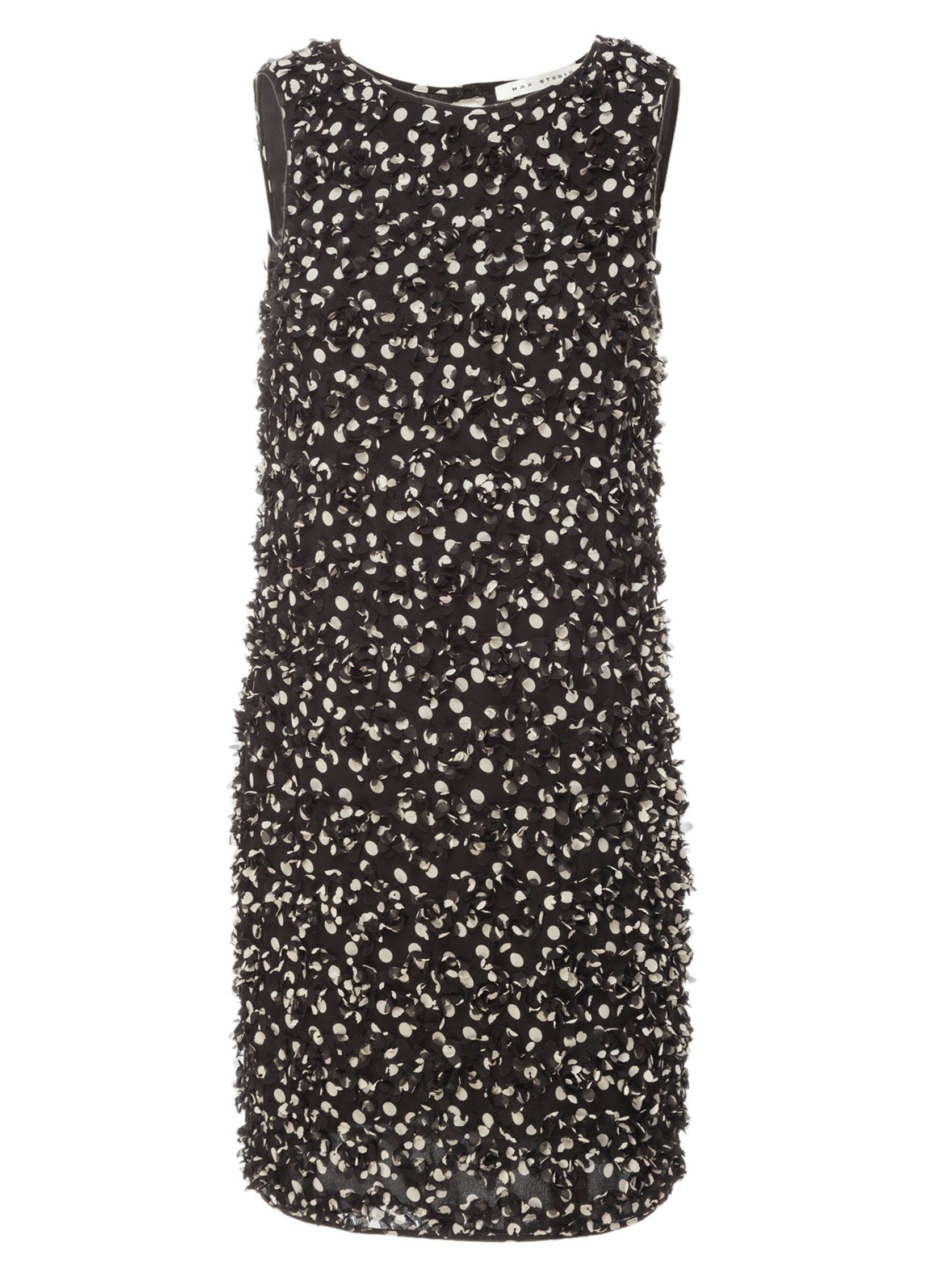 max studio sleeveless cut-work dress black/beige, max, studio, sleeveless, cut-work, dress, black/beige, max studio, xs|s, clearance, womenswear offers, womens dresses offers, women, womens dresses, special offers, 1619534