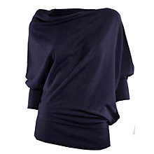 Buy Max Studio Fine Gauge Asymmetrical Drape 3/4 Sleeve Knit Online at johnlewis.com