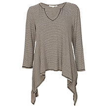 Buy Max Studio Mini Stripe Tunic Top, Heather Steel/Heather Bone Online at johnlewis.com