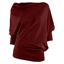 Buy Max Studio Drape Knit Jumper, Plum Online at johnlewis.com