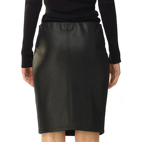 Buy Max Studio Leatherette Ponte Skirt, Black Online at johnlewis.com