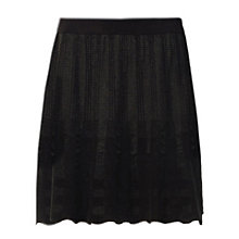 Buy Max Studio Pleat Detail Knee Skirt, Black Online at johnlewis.com