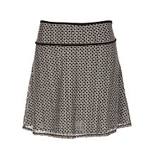 Buy Max Studio Bi Colour Lace Knee Skirt, Black/Off White Online at johnlewis.com