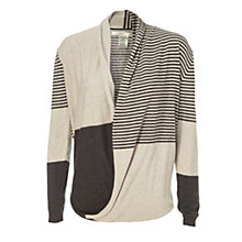 Buy Max Studio Block Stripe Knit, Black/Heather Charcoal Online at johnlewis.com