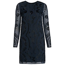 Buy Needle & Thread Petal Stitch Dress, Navy Online at johnlewis.com