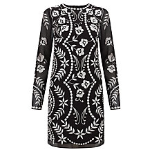 Buy Needle & Thread Petal Stitch Dress, Black & Cream Online at johnlewis.com