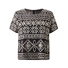 Buy Needle & Thread Embroidered Top, Vintage Black Online at johnlewis.com