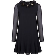 Buy Needle & Thread Corsage Peplum Dress, Navy Online at johnlewis.com